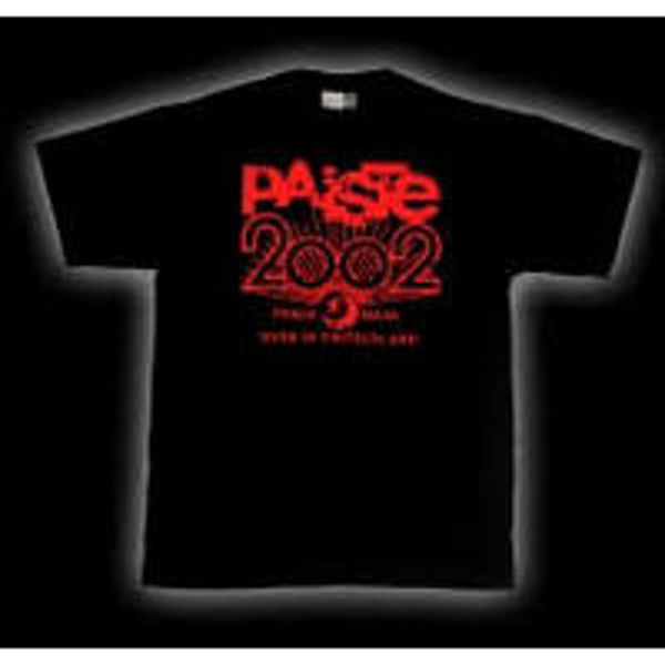 T-Shirt Paiste 2002 Logo Distress, Black, Small