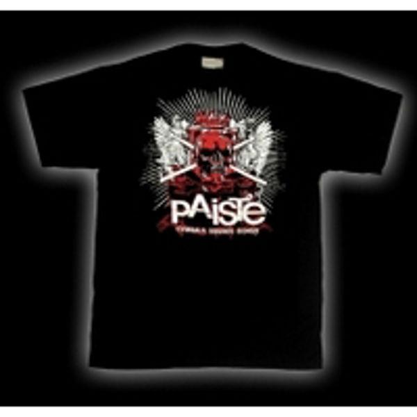 T-Shirt Paiste Skulls, Black, Small