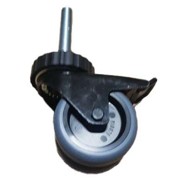 Paukehjul Adams PBW03, Caster Wheel w/Double Break, 75mm, M16 x 90mm