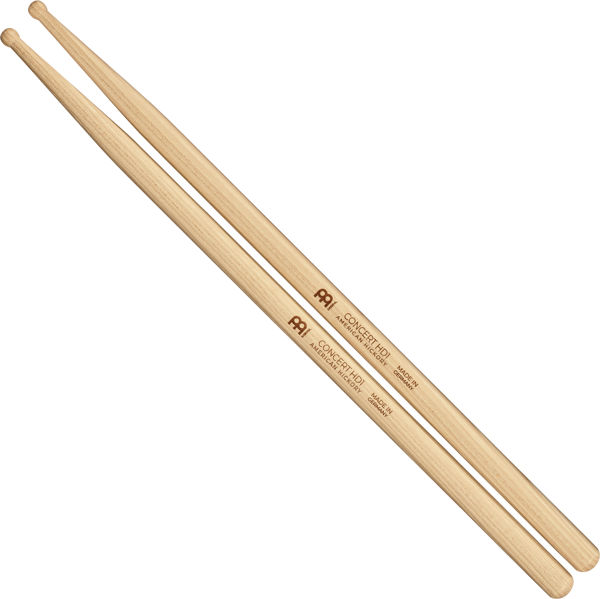 Trommestikker Meinl Concert HD1, Hickory, Wood Tip