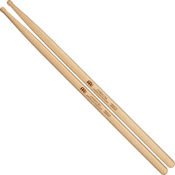 Trommestikker Meinl Hybrid 8A, Hickory, Wood Tip