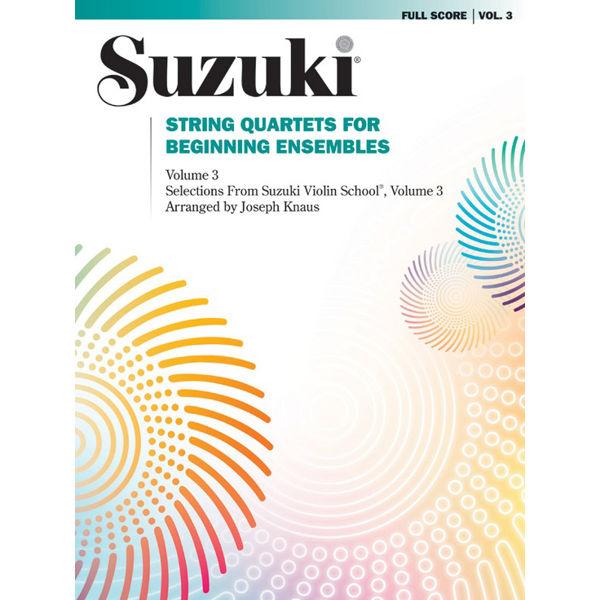 Suzuki String Quartets for beginning ensembles vol 3 Violin