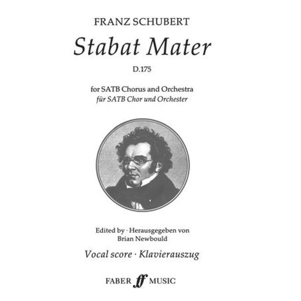 Stabat Mater, Schubert, Franz. SATB Vocal Score.