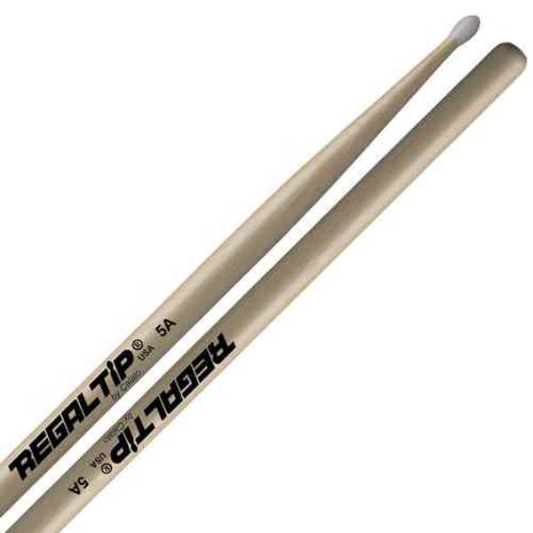 Trommestikker Regal Tip Classic 5A 105NT, Hickory, Nylon Tip