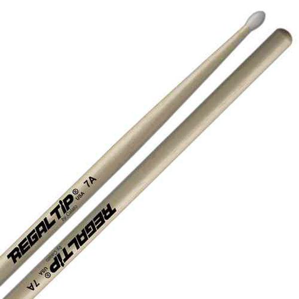 Trommestikker Regal Tip Classic 7A 107NT, Hickory, Nylon Tip