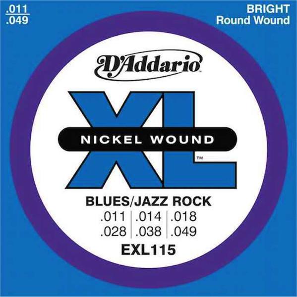 Gitarstrenger Elektrisk D'Addario EXL 115 Nickel Wound