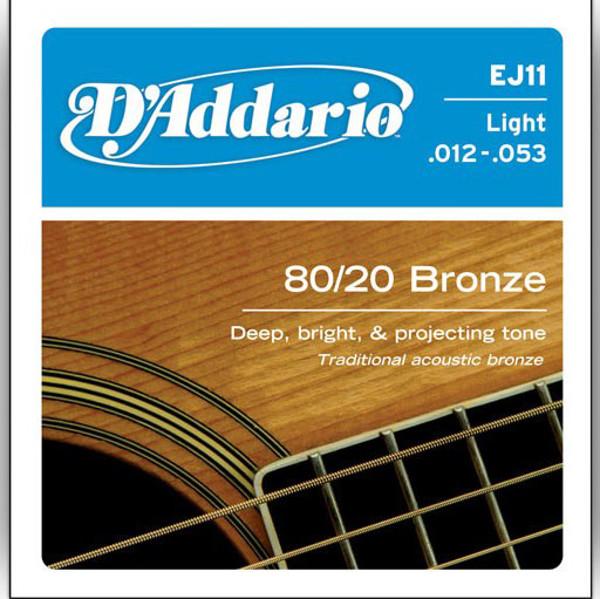 Gitarstrenger Akustisk D'Addario EJ11 Light Bronze
