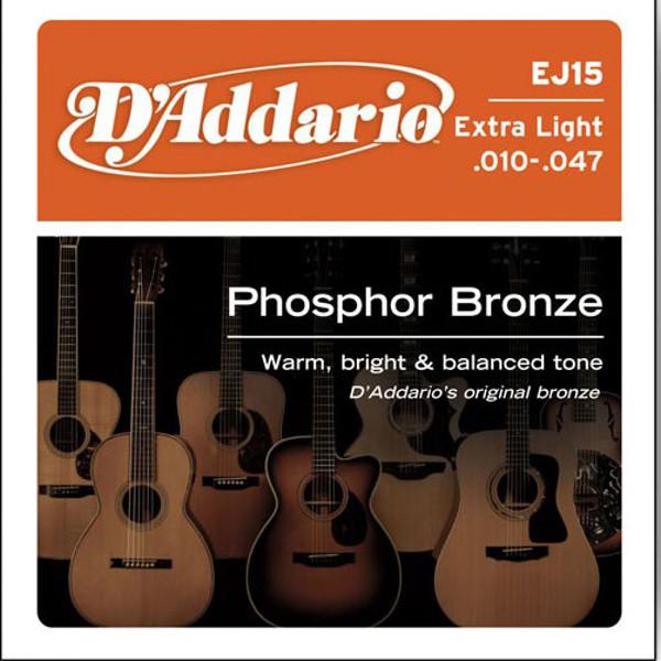 Gitarstrenger Akustisk D'Addario EJ15 Bronze Extra Light