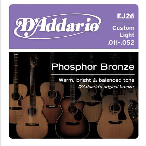 Gitarstrenger Akustisk D'Addario EJ26 Custom Light