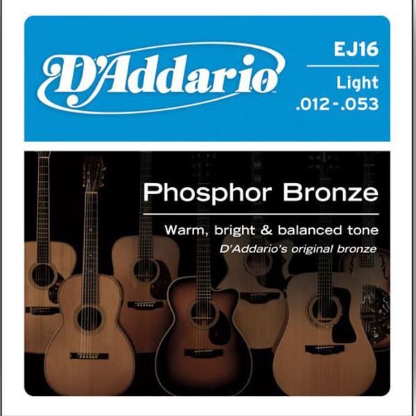 Gitarstrenger Akustisk D'Addario EJ16 Bronze Light