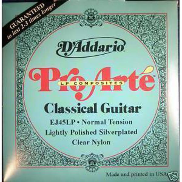 Gitarstrenger Nylon Pro Arte EJ45LP Normal (Lightly Polished Silverplated)