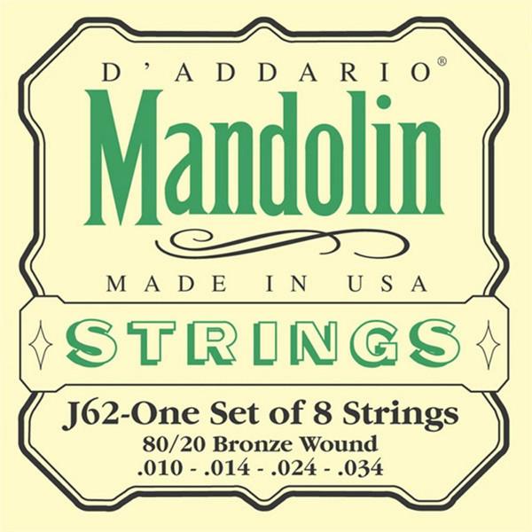 Mandolinstrenger D'Addario EJ62 80/20 Phosphor Bronze