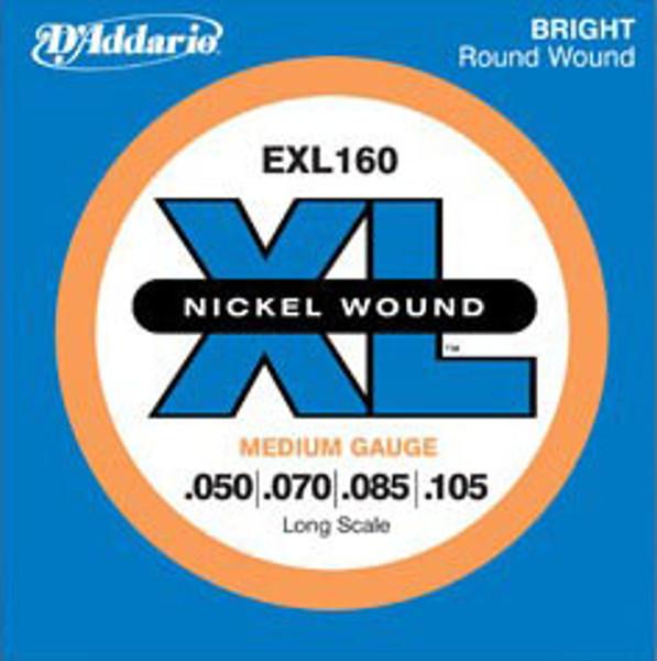 Bassgitarstrenger elektrisk D'Addario EXL 160 Medium