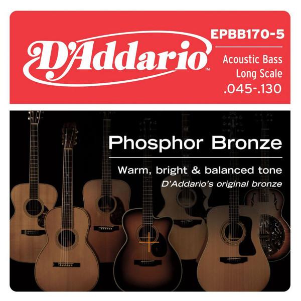 Bassgitarstrenger Akustisk D'Addario EPBB170 Bronze