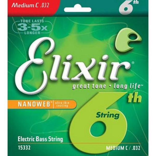 Bassgitarstreng elektrisk Elixir Nanoweb 6 th 032