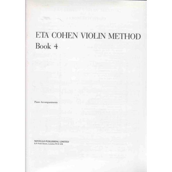Eta Cohen Violin Method Accompaniment Book 4