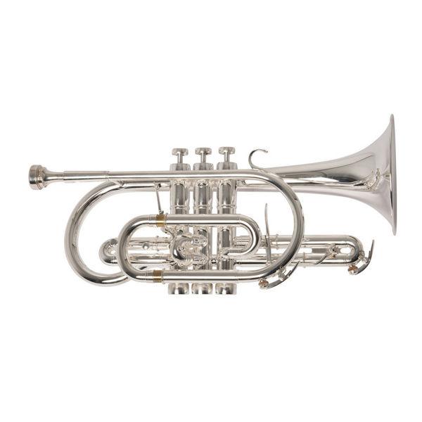 Kornett Adams Custom CN2, Yellow Brass Bell, Silver Plated