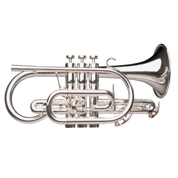 Kornett Adams Custom CN1, Yellow Brass Bell, Silver Plated