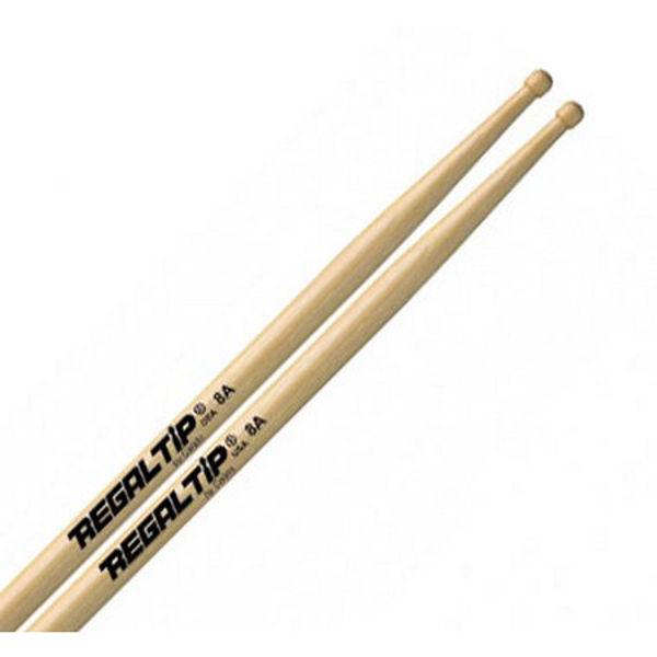 Trommestikker Regal Tip Classic 8A 208R, Hickory, Wood Tip