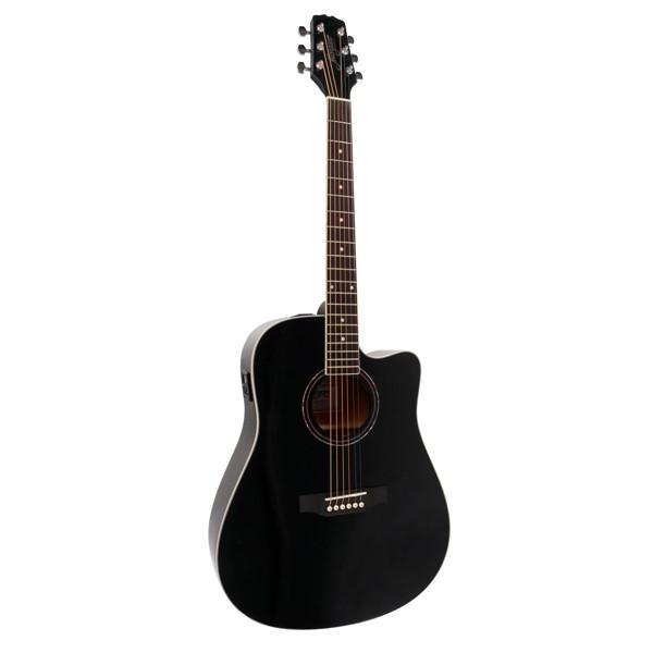 Gitar Western Morgan W 104 CE Sort inkl. Pickup