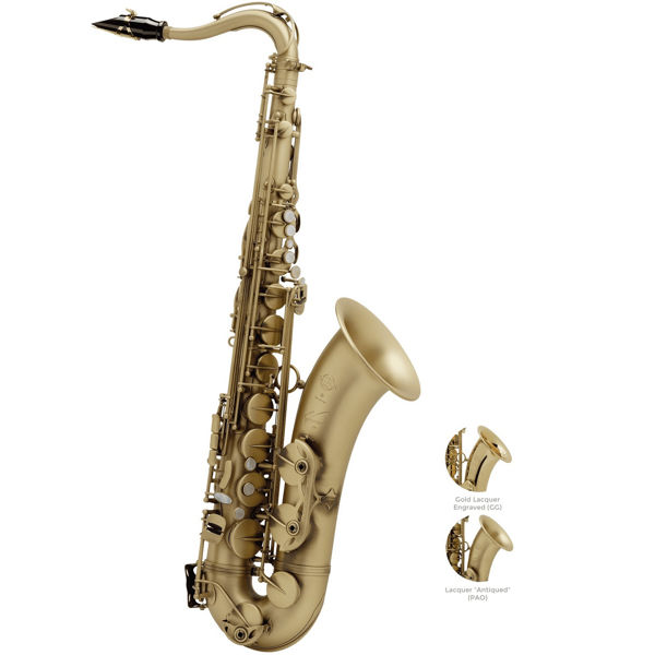 Tenorsaksofon Selmer Reference 54 Gold Lacquered Engraved, Outfit