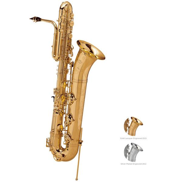 Bassaksofon Selmer SA80 II, Gold Lacquered Engraved, Outfit