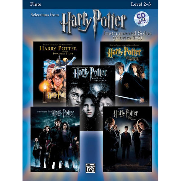 Selections from Harry Potter - Flute - Instrumental Solo Play-Along
