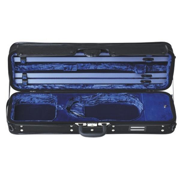 Etui Fiolin Koffert 4/4 Gewa Strato De luxe (Blå innside)