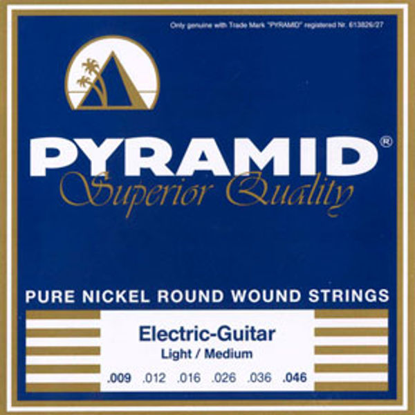 Gitarstrenger Elektrisk Pyramid Pure Nickel Round Wound .008-.038
