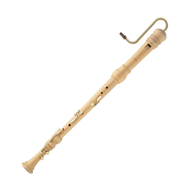 Blokkfløyte Bass Moeck Rottenburgh 4920 Barokk, Maple wood, Double holes