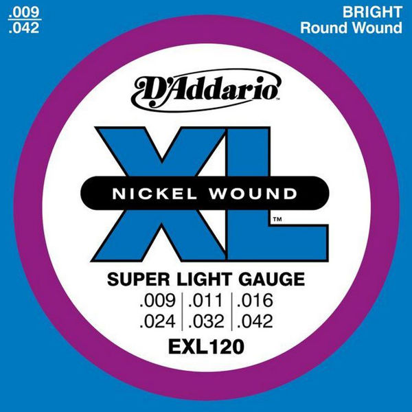 Gitarstrenger Elektrisk D'Addario EXL-120 Super Light