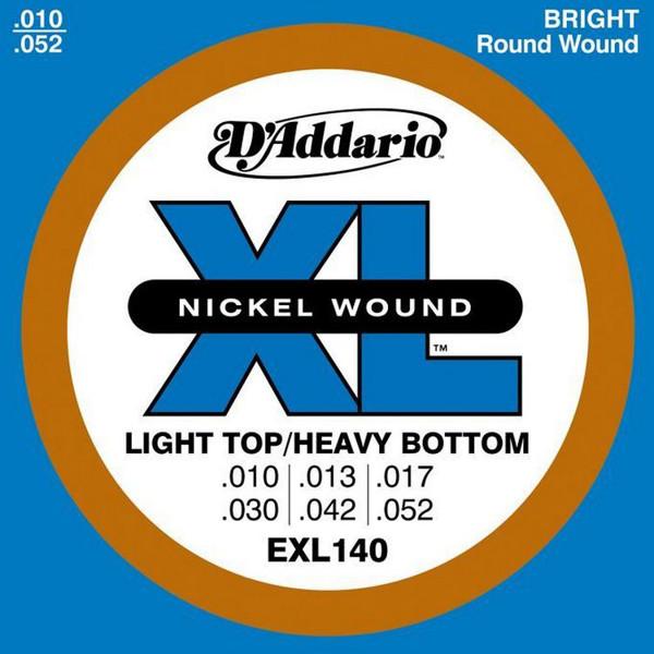 Gitarstrenger Elektrisk D'Addario EXL140 Light Top / Heavy b