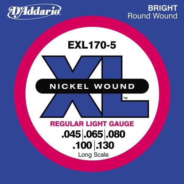 Bassgitarstrenger Elektrisk 5-Strenger D'Addario EXL170-5 XL