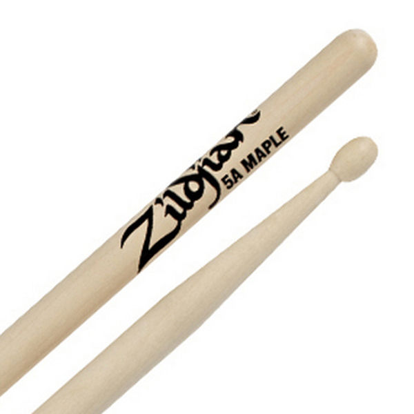 Trommestikker Zildjian Natural 5AM, Maple, Wood Tip