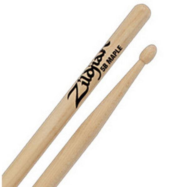 Trommestikker Zildjian Natural 5BM, Maple, Wood Tip