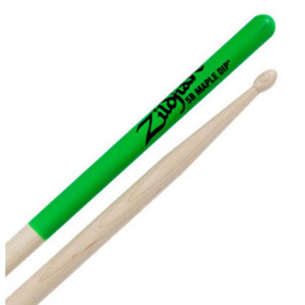 Trommestikker Zildjian Green Dip 5BMG, Maple, Wood Tip