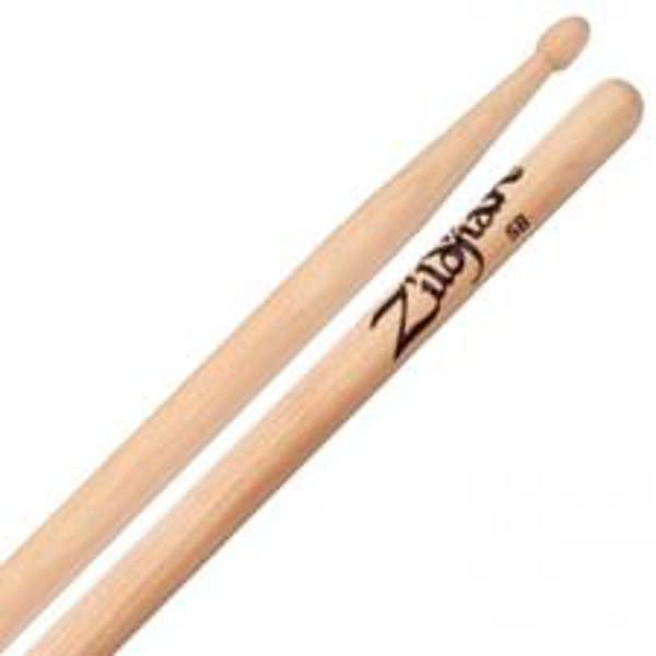 Trommestikker Zildjian Natural 5BWN, Hickory, Wood Tip