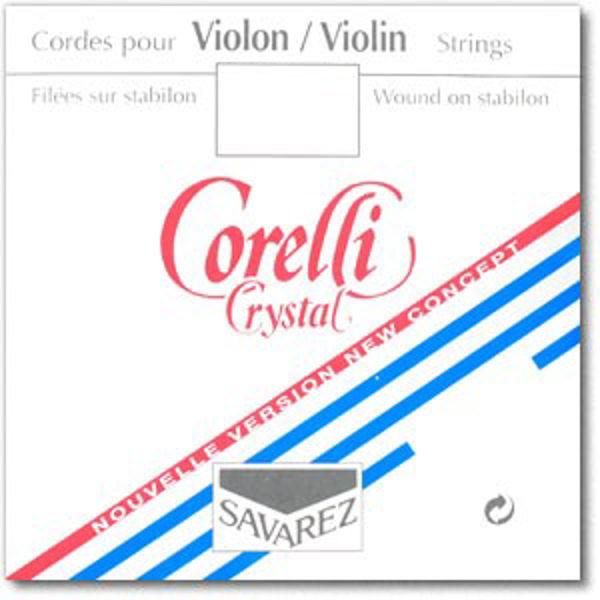Fiolinstreng Corelli Crystal 1E medium plain steel løkke