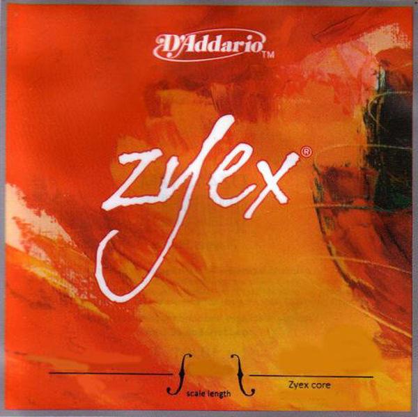 Fiolinstreng Zyex D`Addario 3D medium zyex core, silver