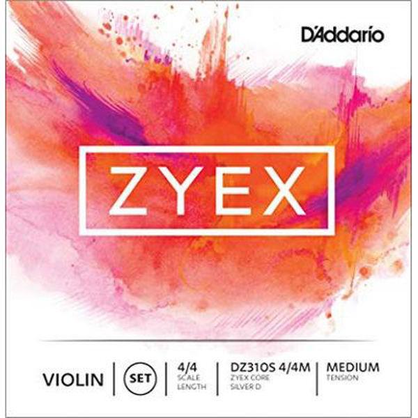 Fiolinstrenger Zyex DAddario 4/4 Set Aluminum