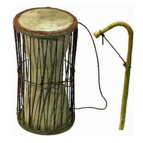 Talking Drum Kamballa 30cm Høyde, 17cm Skinn