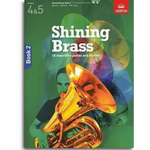 Shining Brass Book 2 - Part (Brass instrument) (Grades 4-5) m/CD