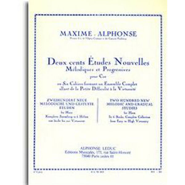 Two Hundred New and Gradual Studies for Horn Vol. 6 - Maxime-Alphonse
