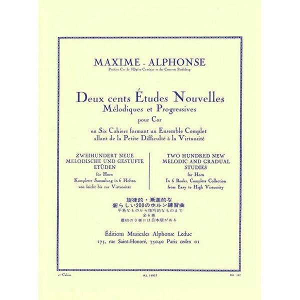 Maxime-Alphonse: 200 Etudes Nouvelles Vol.1 - 70 Etudes Tres Faciles (Horn)