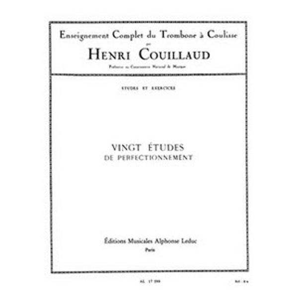 20 Etudes De Perfectionnement, Trombone, arr Couillaud