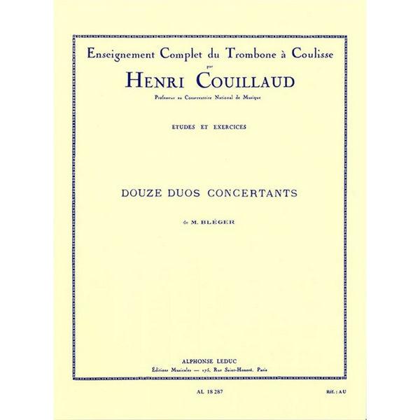 12 Duos Concertants, Trombone, Michel Bleger / Couillaud