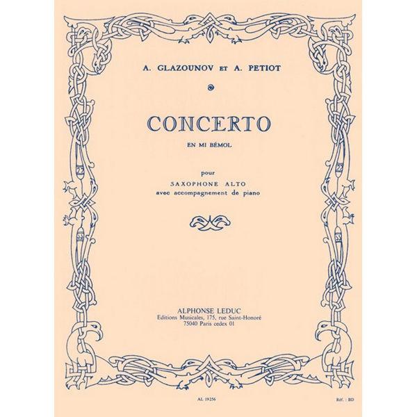 Concerto en Mib pour Saxophone Alto et Piano. Glazounov