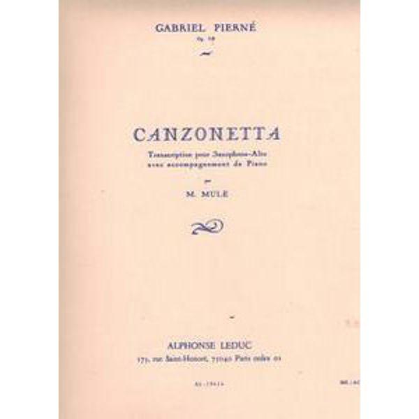 Canzonetta, Op.19 - Alto Saxophone and Piano - Pierné