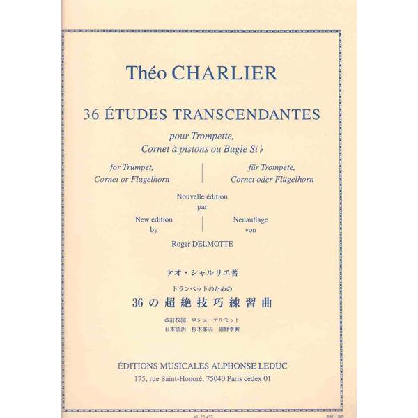36 Etudes Tanscendantes, Trumpet, Cornet, Flugelhorn. Theo Charlier