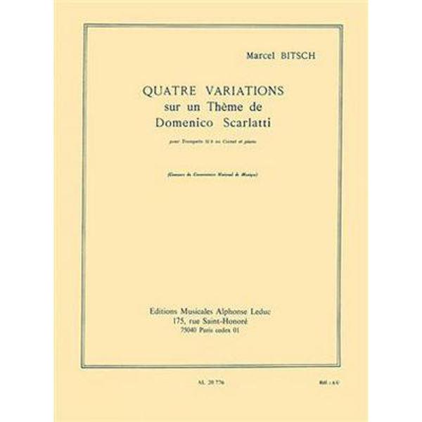 4 Variations Sur Un Theme De D. Scarlatti, Marcel Bitsch, Trumpet and Piano